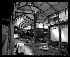 les Halles avant la démolition ; source: bibliothèques de la Cité de l'architecture et du patrimoine