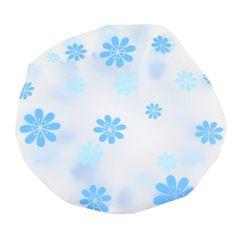BelleSha Water Resistant Shower Cap Blue Flora
