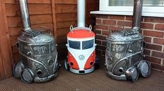 Three mates with 20 years experience as steel fabricators working in their spare time manipulating steel into making cars and their favourite characters.