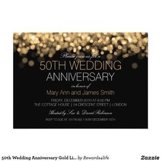 Golden Th Anniversary Invitations  Invitations Anniversaries