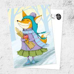 Почтовая открытка «Лиса весной»