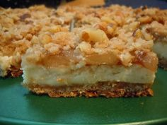 The Savvy Kitchen: Apple Streusel Cheesecake Bars