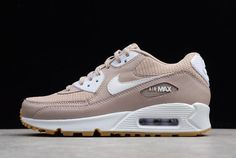 bdc46eaca5a76 Women s Nike Air Max 90 Essential Diffused Taupe White-Gum 325213-210