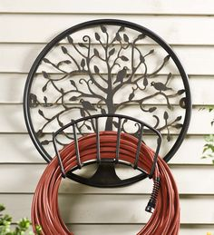 Tree of Life Metal Hose Holder | Garden Tools