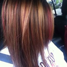 red brown highlights.
