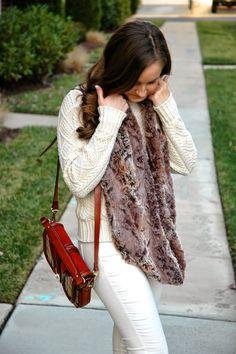 winter white & faux fur