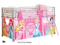 NEW Disney Princess Girls Sleeper Bed Tent Bedroom Pink Childrens Den Kids Beds | Kids room ideas | Pinterest | Kids rooms Room ideas and Room  sc 1 st  Pinterest & NEW Disney Princess Girls Sleeper Bed Tent Bedroom Pink Childrens ...