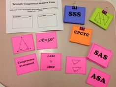 Triangle Game, Student Teaching, Teaching Ideas, Memory Games, Vocabulary, Geometry, Students, Memories, Play
