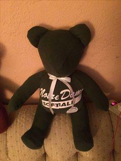 Memory bear for Mollys friend.