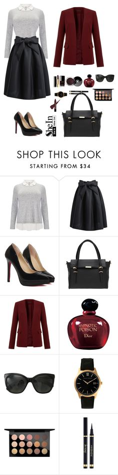 """Shein 8."" by amra-f ❤ liked on Polyvore featuring Studio 8, Theory, Christian Dior, Chanel, Larsson & Jennings, MAC Cosmetics, Yves Saint Laurent, Fall, 1d and 5sos"