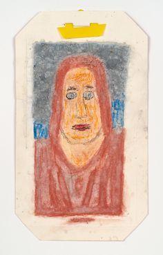 James Castle, 'Untitled (Woman's head)', n.d., Fleisher/Ollman   Artsy