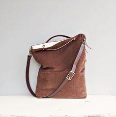 Moderno Tote Bag Buttercream Cross Body di MondayMorningStudios