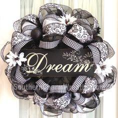 "Deco Mesh ""Dream"" Wreath"