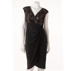 Suite 7 Mixed-Media Empire Dress - Women's