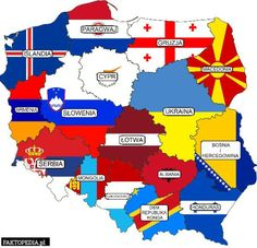 Voivodeships of Poland marked as countries with matching GDP.