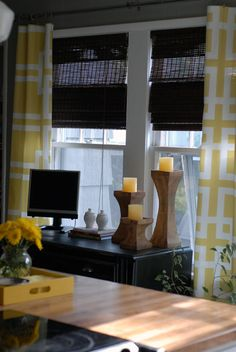 DIY curtain panels -- No Sewing Required!