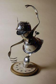 -Junk Robot Art -Found Object Art -Made By: Uggleborg.se