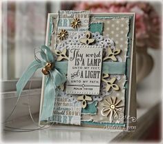 Handmade card by Andrea Ewen using the Psalm 119:105 Plain Jane from Verve.  #vervestamps