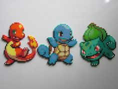 The original three amigos Charmander, Squirtle, and Bulbasaur. This is part of a set that I want to make of all the starters from the Pokemon games. So sit tight, more to come!