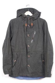 Image of Weatherby Waxed Cotton Olive jacket