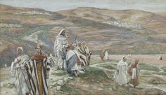 Luke Jesus Sent Them Out Two by Two, by James Tissot in Brooklyn Museum, When we completely surrender ourselves to Jesus, we become one with Him and He with us. So show others Jesus within you! Catholic Mass Readings, Catholic Bible, Catholic Daily Reflections, Life Of Jesus Christ, God Jesus, Gospel Of Luke, Daily Gospel, Daily Bible, Brooklyn