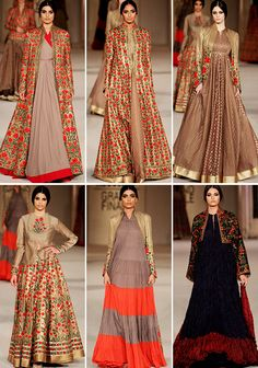 beech mein tera junoon — Rohit Bal at Lakmé Fashion Week 2016 Indian Gowns, Indian Attire, Pakistani Dresses, Indian Outfits, Indian Wear, Fashion Week 2016, Lakme Fashion Week, India Fashion, Asian Fashion