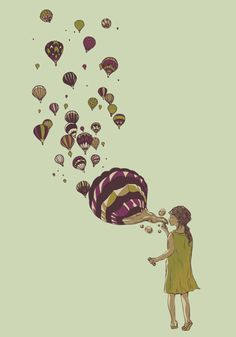 bubbles and hot air balloons! these be a few of my favourite things