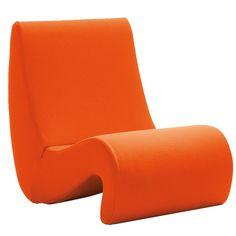 vitra: #orange amoebe lounge #chair