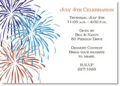 4th of july invitations patriotic invitations paperstyle other