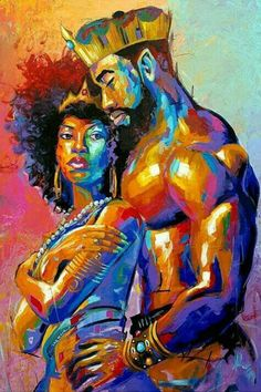 art pictures African King and Queen Shower Curtain Black Girl Art, Black Girl Magic, Art Girl, Black Couple Art, Black Man, Pinterest Arte, Black Art Pictures, Black Picture, Creation Art