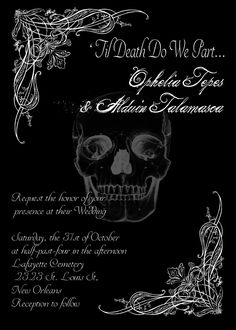 Spooktacular halloween wedding invitations gothic wedding til death do we part gothic halloween wedding invitation save filmwisefo