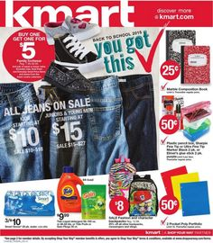 kmart us back to school 2015 you got this weekly ad sale