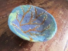 Felted Bowl: