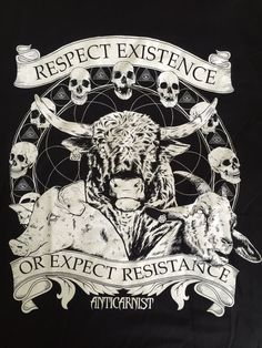 Respect Existence or Expect Resistance, Vegan tanks, Vegan Vest, Vegan tshirt, Vegan t-shirt By Anticarnist Vegan Clothing T Shirt Vegan, Vegan Hoodie, Vegan Tattoo, Vegan Quotes, Vegan Clothing, Vegan Animals, Animal Rights, Etsy, Respect