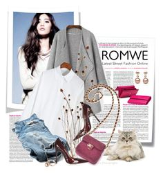 """""""White ice with Romwe.com^"""" by astromeria ❤ liked on Polyvore featuring Post-It, Fergie, Nana', Topshop, Gucci, Chanel and romwe"""