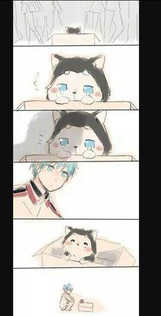 Kuroko is love. kuroko is life 😍❤️ All Anime, Otaku Anime, Anime Chibi, Kawaii Anime, Anime Guys, Manga Anime, Anime Art, Kuroko No Basket, Kagami Kuroko