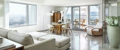 Discover the most spectacular luxury apartments of Barcelona on the top floors of Hotel Arts, located on the sea-front in the city's Olympic Village area.