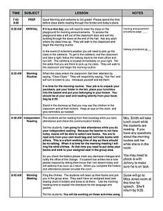 helpful substitute binder suggestions  Littlest Learners / Clutter-Free Classroom Blog: PLANNING FOR A SUBSTITUTE TEACHER