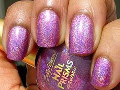 Sally Hansen Nail Prisms Purple Diamond 3 coats, no topcoat