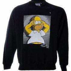 Homer Simpson, Corner, Graphic Sweatshirt, Band, Black And White, Logo, Sweatshirts, Sweaters, Logos