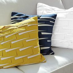 West Elm offers modern furniture and home decor featuring inspiring designs and colors. Create a stylish space with home accessories from West Elm. Sewing Pillows, Diy Pillows, Decorative Pillows, Throw Pillows, Nautical Pillows, Scatter Cushions, Cushion Covers, Pillow Covers, Childrens Room