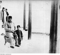 Qajar,king Mozaffaroddin Shah and his son Prince Mohammad Ali Mirza (probably) Mozaffaroddin Shah is credited with creation of Iranian constitution, 10 days after signing the Constitutional Monarchy into law , he died because of poor health.