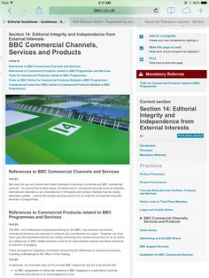 What are the products and services the BBC produce ?   http://www.bbc.co.uk/editorialguidelines/page/guidelines-editorial-integrity-commercial/