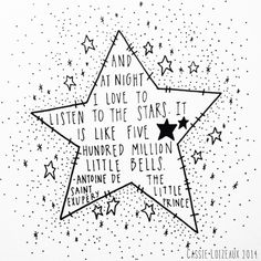 Stars. Day 66 of yearlong 30 minute a day sketchbook project. Cassie Loizeaux