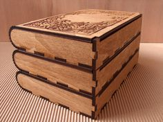 Engraved wooden photo boxes by InvenioCrafts on Etsy, €20.00