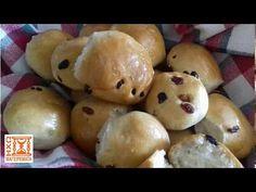 Σταφιδοψωμάκια Νηστίσιμα – ηχωμαγειρέματα Hamburger, Muffin, Potatoes, Bread, Vegetables, Cooking, Breakfast, Food, Youtube