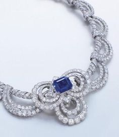 Cartier Diamond and Ceylon Sapphire Necklace by oldrose