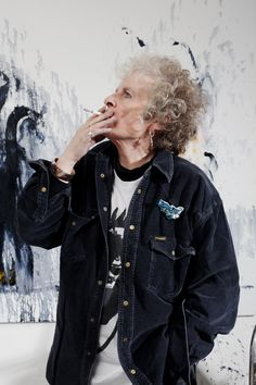 "Maggi Hambling CBE; distinguished contemporary artist, sums up: ""My philosophy of life is that I am deeply, deeply serious about my work and for the rest I like to have a few laughs."""