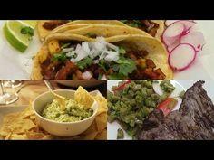 Gastronomía de México - Tacos Al Pastor - Guacamole - Nopal Con cecina - YouTube