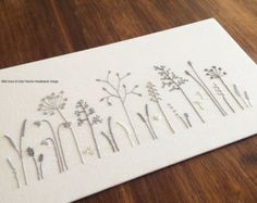 Wild Ferns modern hand embroidery pattern - modern embroidery PDF pattern…